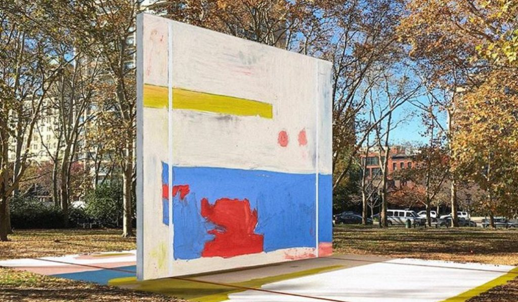 A New Outdoor Art Installation In Brooklyn Will Double As A Colorful Handball Court