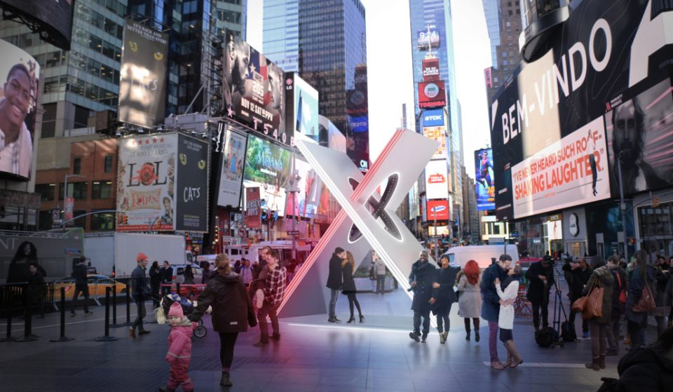 A Brand New Valentine's Day Themed Art Installation Will Be Unveiled In Times Square Today