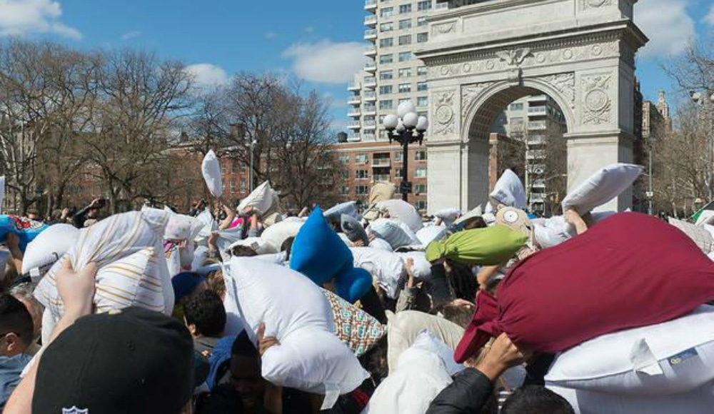 Washington Square Park Is Having A Massive Pillow Fight In April