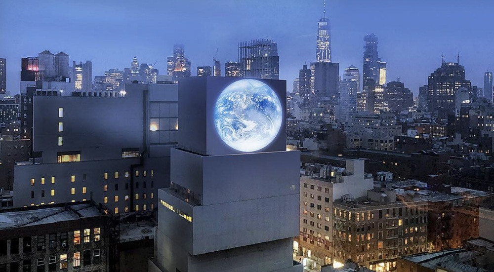 Otherworldly Installation Appears On LES With Real-Time Live Stream Of Earth From Space