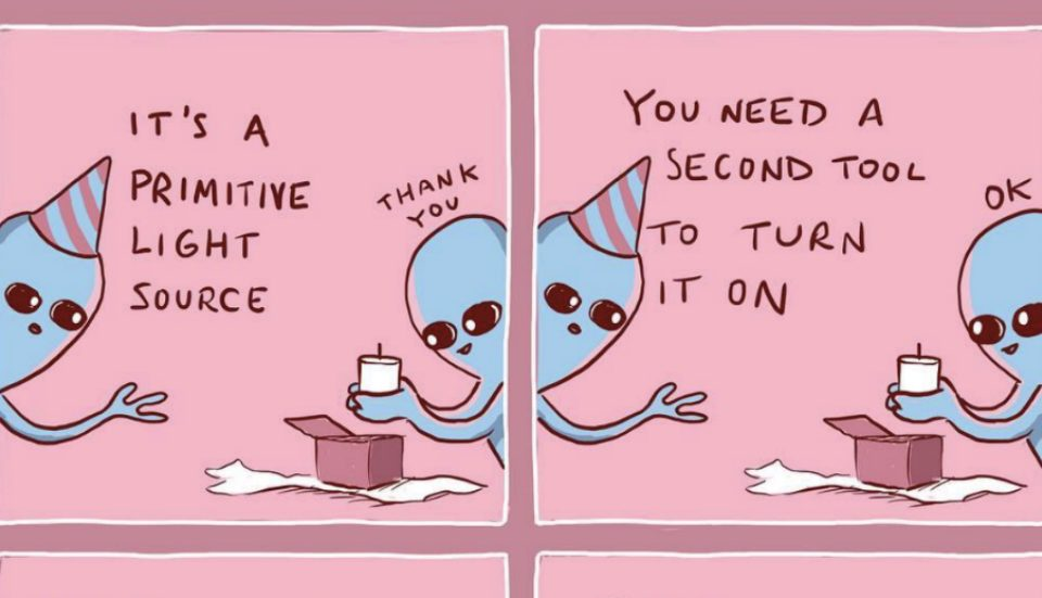 These Viral Comics Prove That Humans Are The Weirdest Aliens Of All