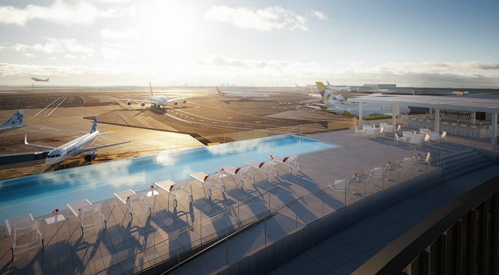 TWA Hotel Is Opening A Year-Round Infinity Pool At JFK Airport Next Month