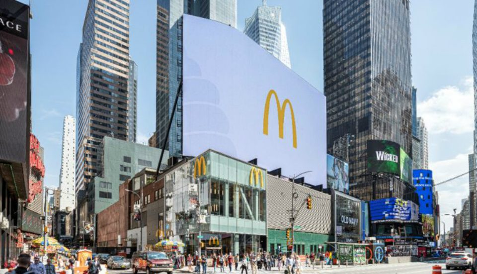 A Massive Three-Story McDonald's Recently Opened In Times Square, And It's 24/7