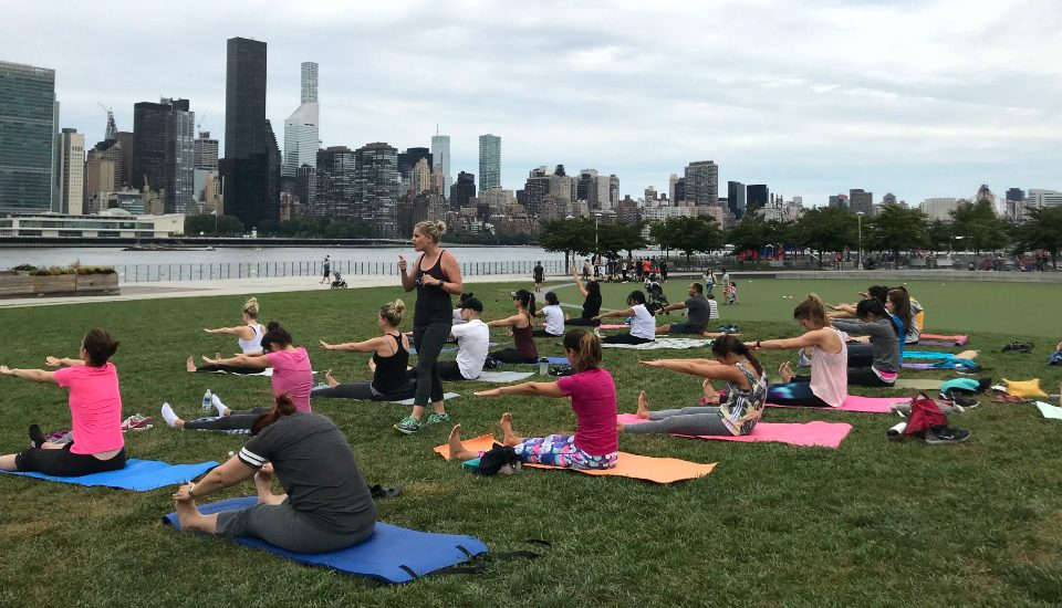 Free Outdoor Pilates Classes Return To Hunter's Point South Park Next Month