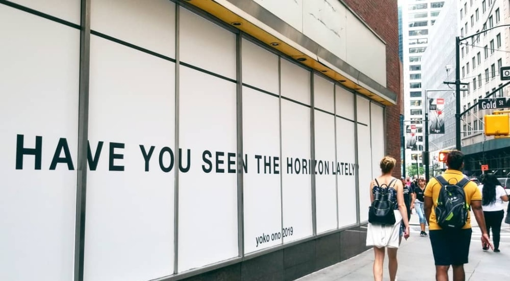 Check Out Yoko Ono's Work Around NYC For The River To River Festival
