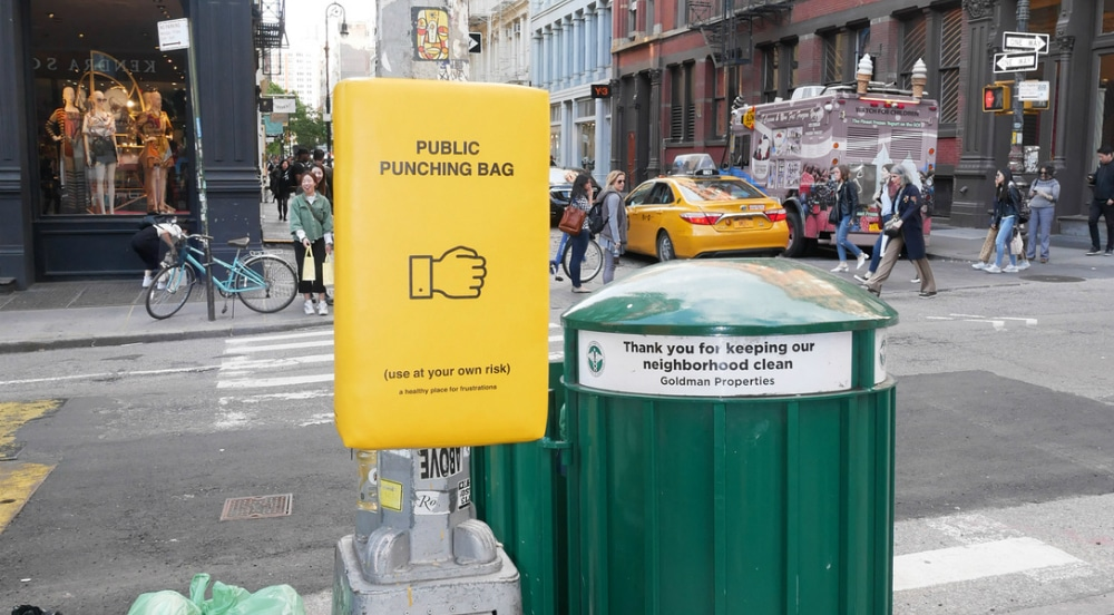 Take Out Your Pent-Up Frustrations On One Of These 'Public Punching Bags' Around NYC
