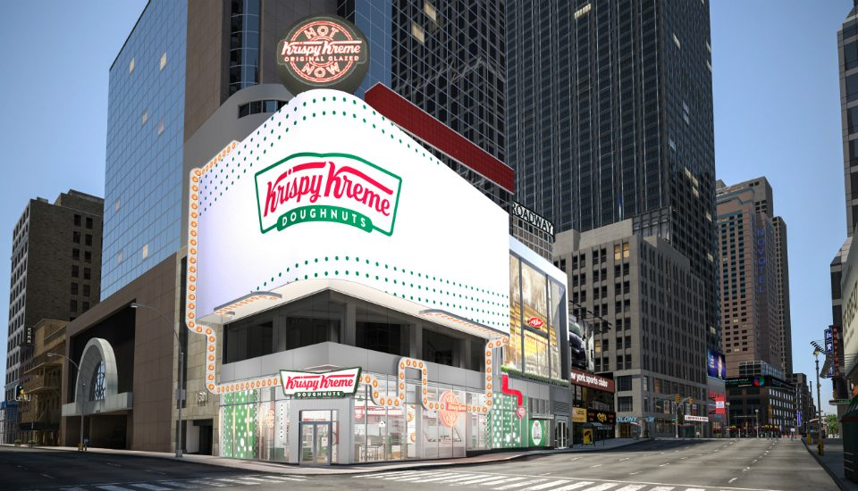 24/7 Krispy Kreme Will Open In Times Square Next Month With The World's Largest 'Hot Light'