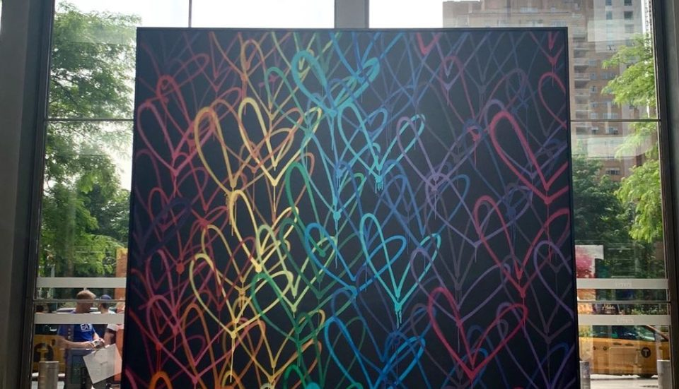 JGoldcrown's Latest Bleeding Hearts/Love Wall Commemorates WorldPride Month