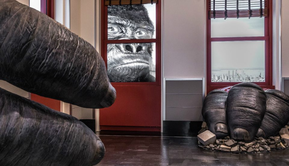 Empire State Building Opens Larger-Than-Life King Kong Installation In New Museum