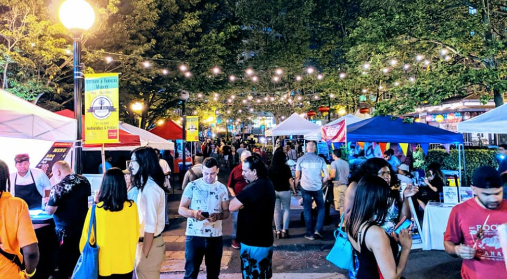 Jersey City's First Open-Air Night Market Returns This Weekend With International Bites