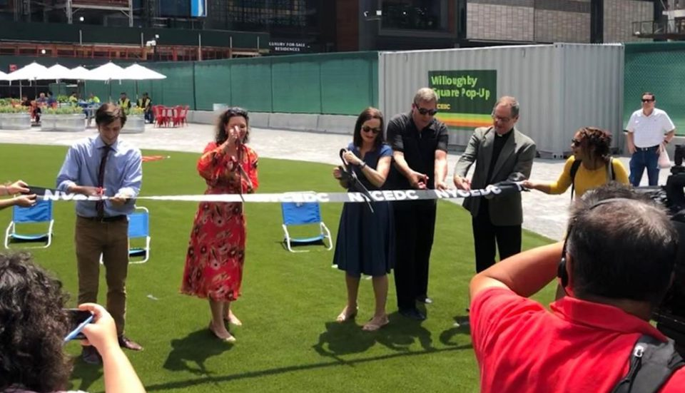 Willoughby Square Pop-Up Park Is Officially Open In Downtown Brooklyn