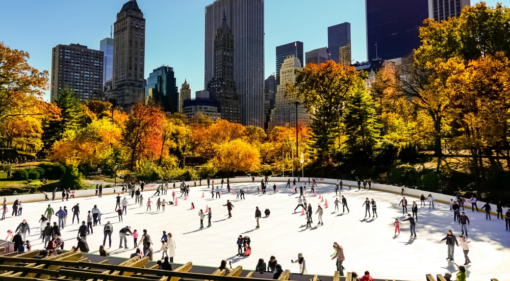 Central Park's Wollman Ice Rink Is Now Open