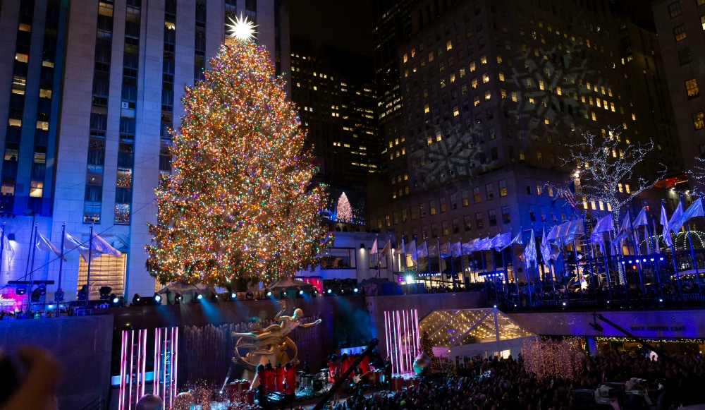 Rockefeller Center Tree Lighting Ceremony With Star-Studded Performances Takes Place Tonight