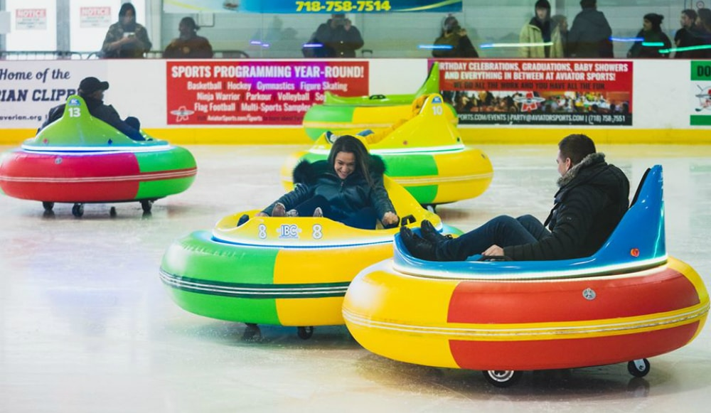 Hit The Ice With Bumper Cars In Brooklyn This Winter