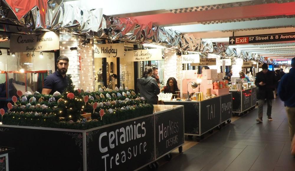 An Underground Holiday Market Hidden Beneath Columbus Circle Is Now Open