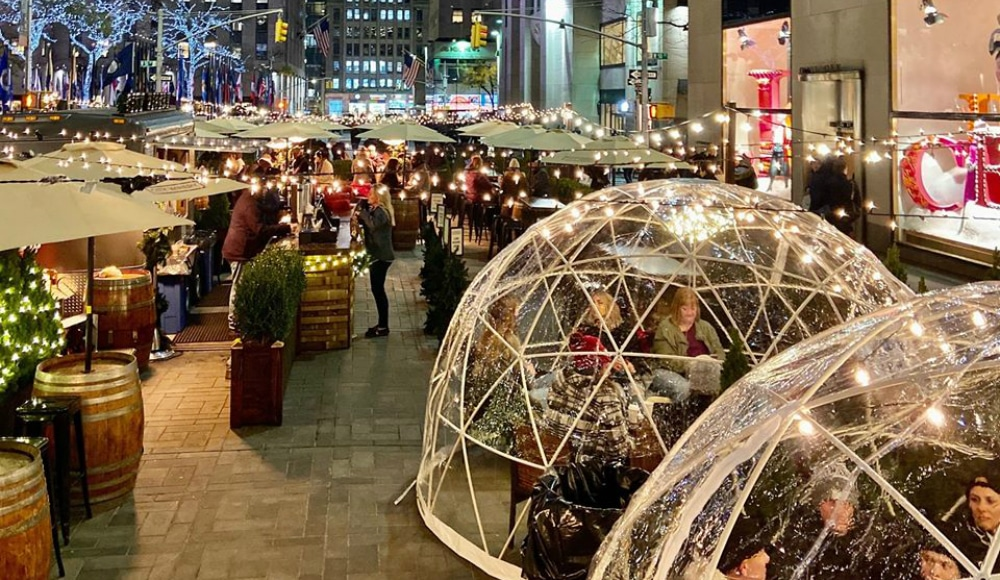 City Winery Just Reopened Their Cozy Winter Igloos At Rockefeller Plaza
