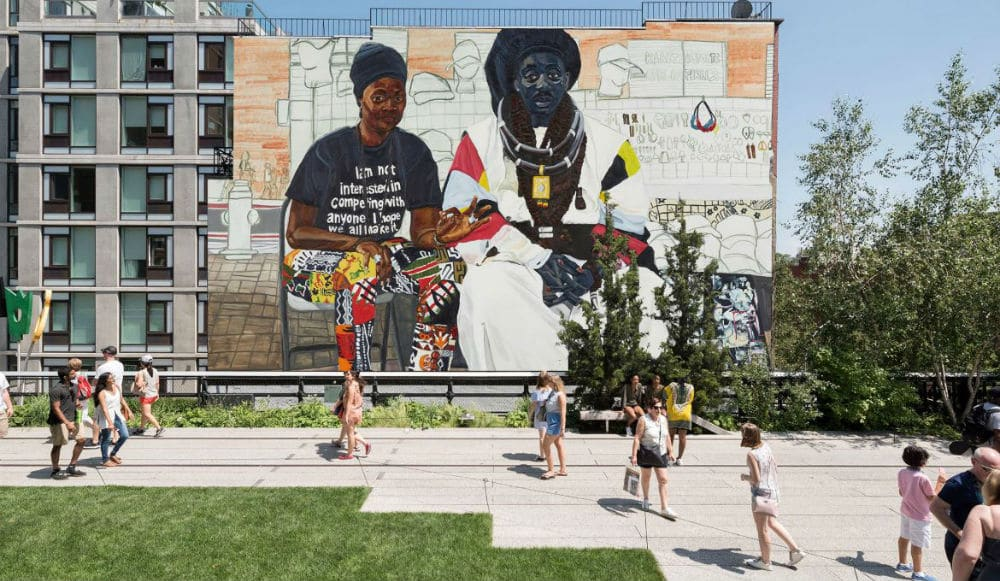 The High Line Just Got A Brand New Giant Mural