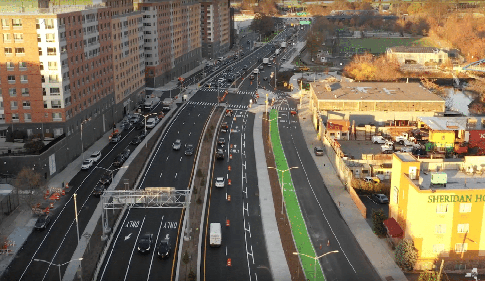 The Sheridan Expressway In The Bronx Is Now A Pedestrian-Friendly Boulevard