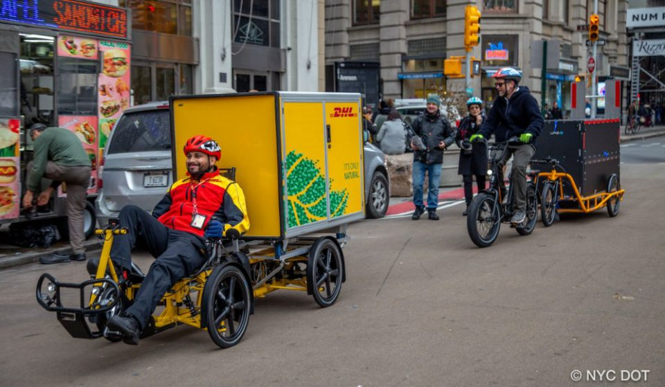 Bicycle Delivery Trucks Might Be Bringing Your Holidays Gifts This Year