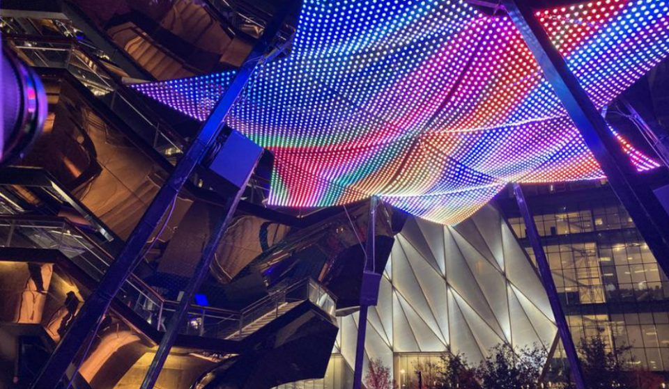 Hudson Yards Gets A Gorgeous New Holiday Light Show Installation