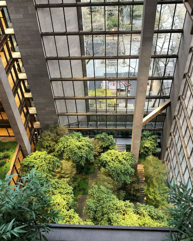 It S Always Summer At This Hidden Indoor Garden In A Midtown Office Building Ford Foundation Secretnyc