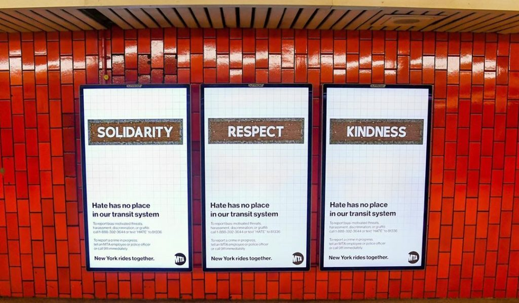 The MTA Launched A New Kindness Campaign To Help Combat Hate Crimes In Subway Stations