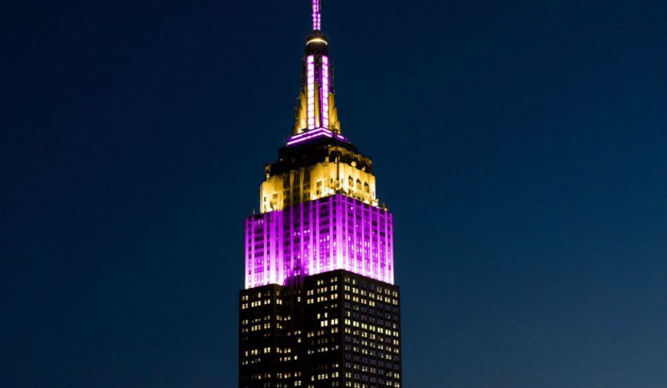 The Empire State Building Is Lit In Lakers Colors Tonight For Kobe Bryant