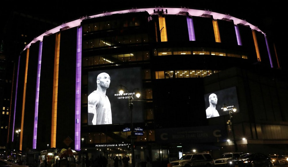 Madison Square Garden Lit Up Purple & Gold Last Night In Honor Of Kobe Bryant