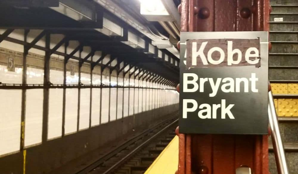 New Yorkers Have Paid Tribute To Kobe Bryant By Changing The Bryant Park Subway Sign