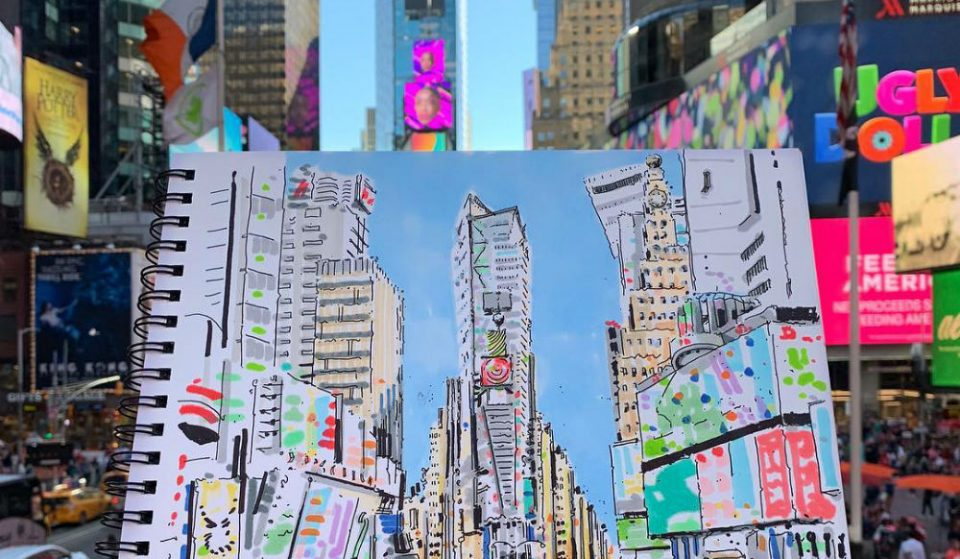 This Local Artist's Sketches Of New York Will Make You Fall In Love With The City All Over Again