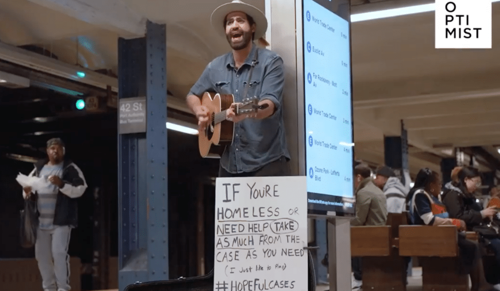 This Subway Musician Plays So The Homeless Can Take The Tip Money From His Guitar Case