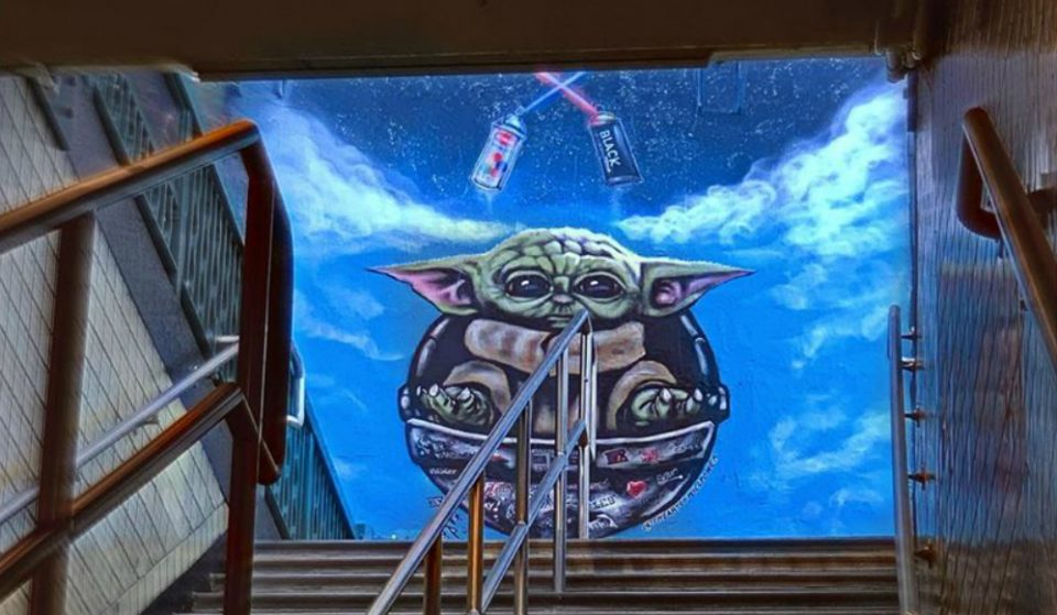 A New Baby Yoda Mural Just Popped Up In The East Village