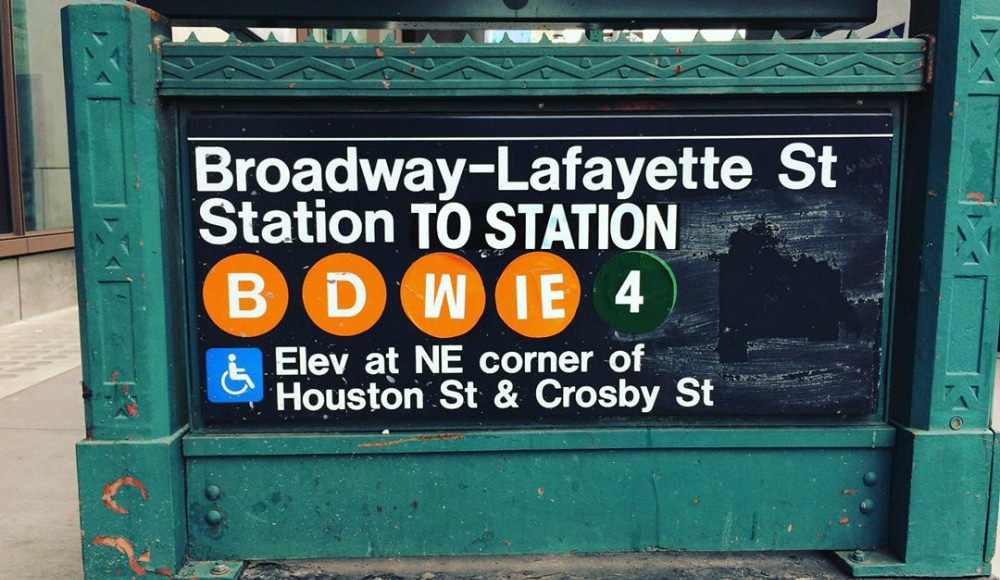A Sweet David Bowie Tribute Takes Over The Broadway-Lafayette Street Subway Station