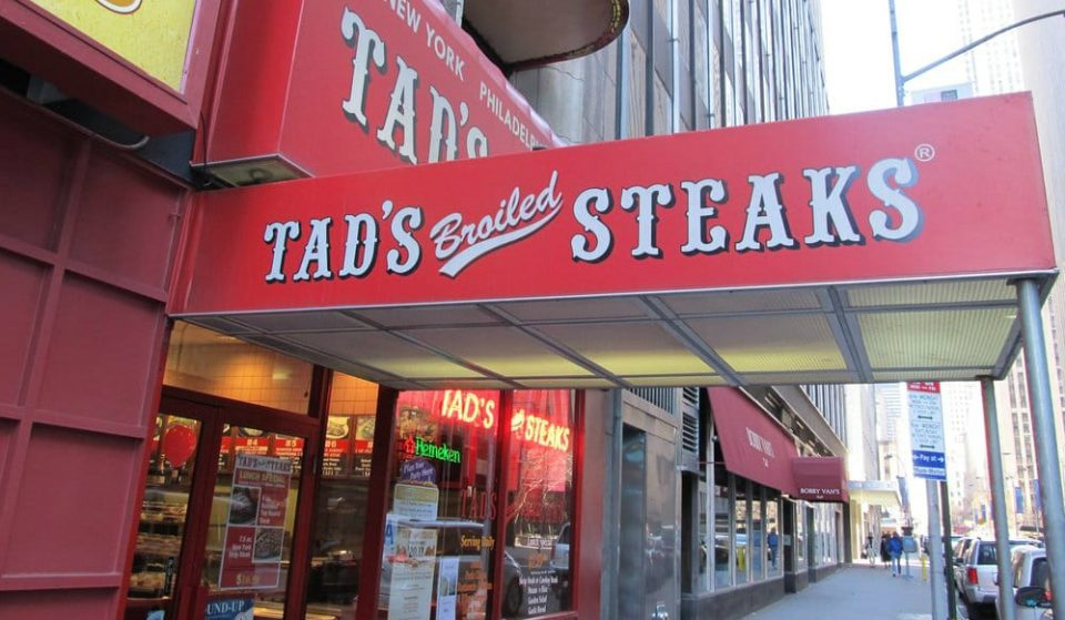 Affordable Steakhouse, Tad's Steaks, In Times Square Has Closed After 63 Years