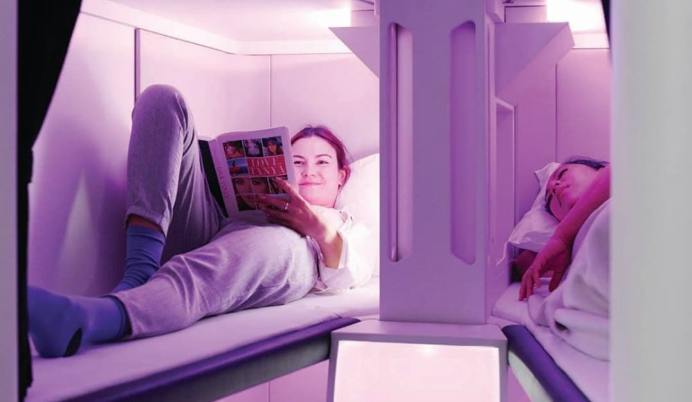 This Airline Is Testing Out Bunk Beds In Economy Class Flights To New York