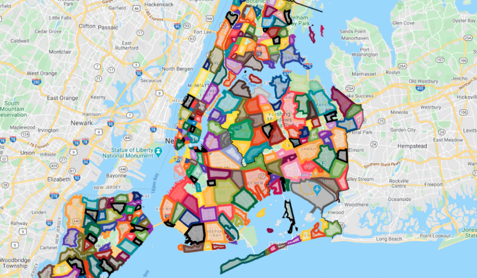 This Map Shows Where All NYC Neighborhood Borders Are Once & For All