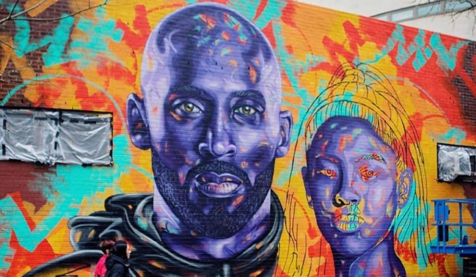 A Heartwarming Kobe & Gianna Bryant Tribute Mural Is Being Painted In Chinatown