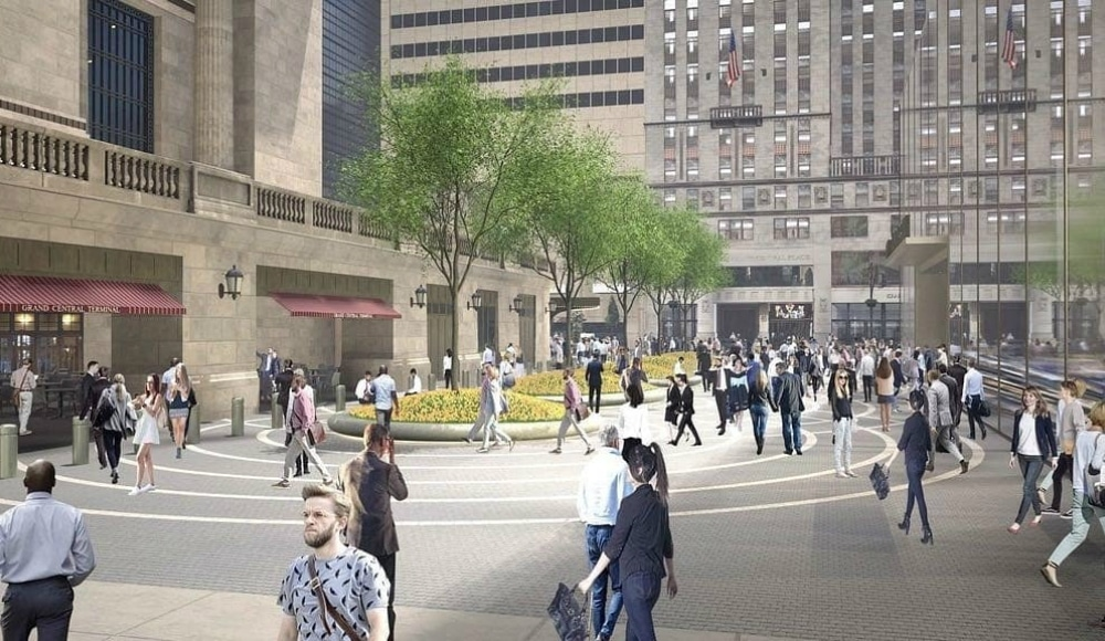 Grand Central Is Finally Getting A Pedestrian-Only Plaza This Summer