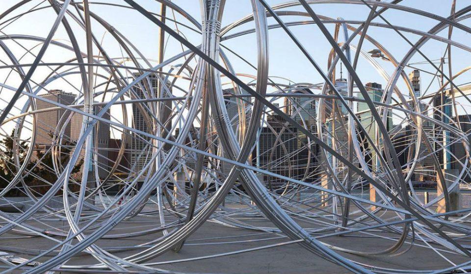 A Twisty New Art Installation Is Up In Brooklyn Bridge Park