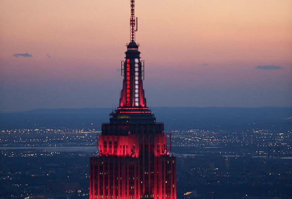 The Empire State Building Will Shine Red For 'Heartbeat Of America' Every Night Through COVID-19 Battle