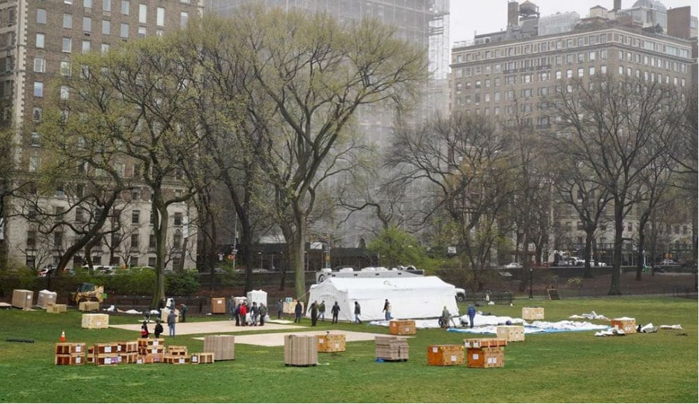 Central Park's Temporary Coronavirus Hospitals Are Being Taken Down