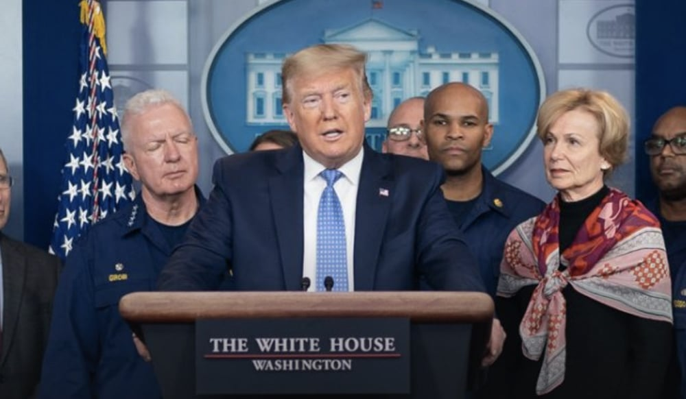President Trump Tells Americans To Avoid Groups Larger Than 10 People
