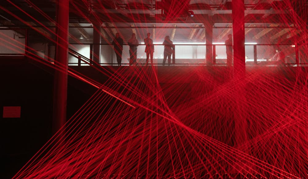 This New Chelsea Market Art Installation Is Like A Trippy Red Laser Show