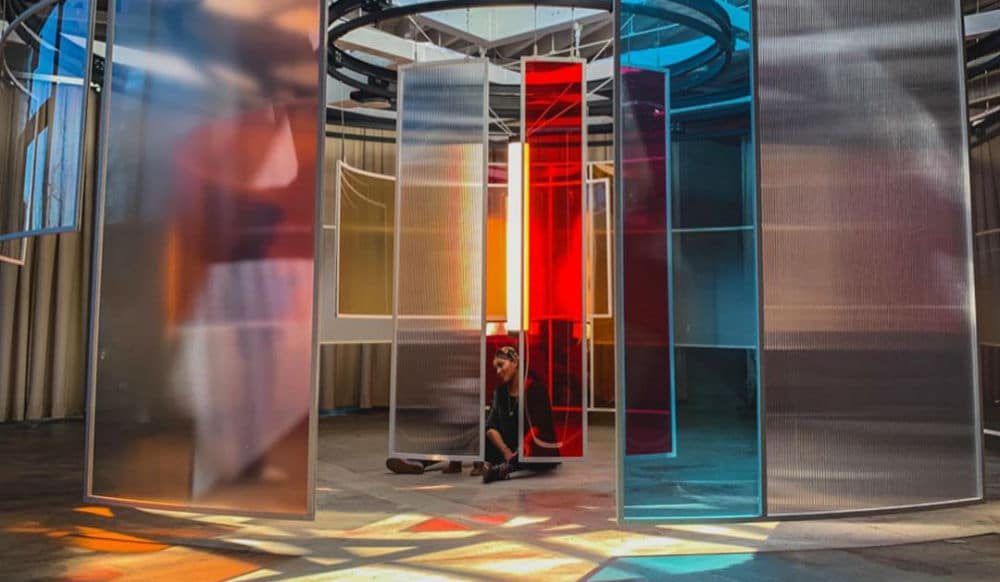 This Brooklyn Art Installation Lets You Walk Through A Kaleidoscope Of Rotating Colors Secretnyc
