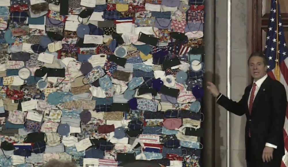 Governor Cuomo Shares The Thousands Of Masks & Letters Sent By Americans Who Want To Help NY