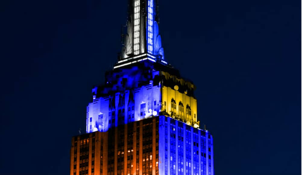 The Empire State Building Will Light Up In Different Colors Each Night This Week For Essential Workers