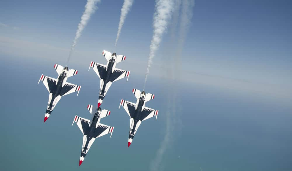 The U.S. Air Force Thunderbirds & U.S. Navy Blue Angels Will Fly Over NYC Tomorrow