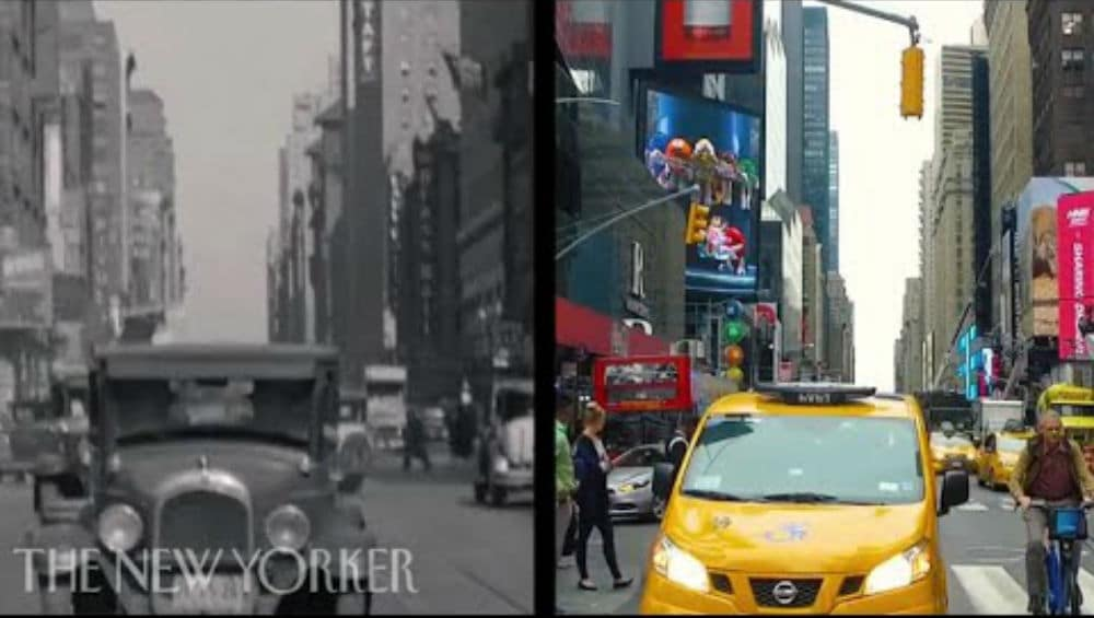 Watch An Incredible Side-By-Side Comparison Of NYC 80 Years Apart
