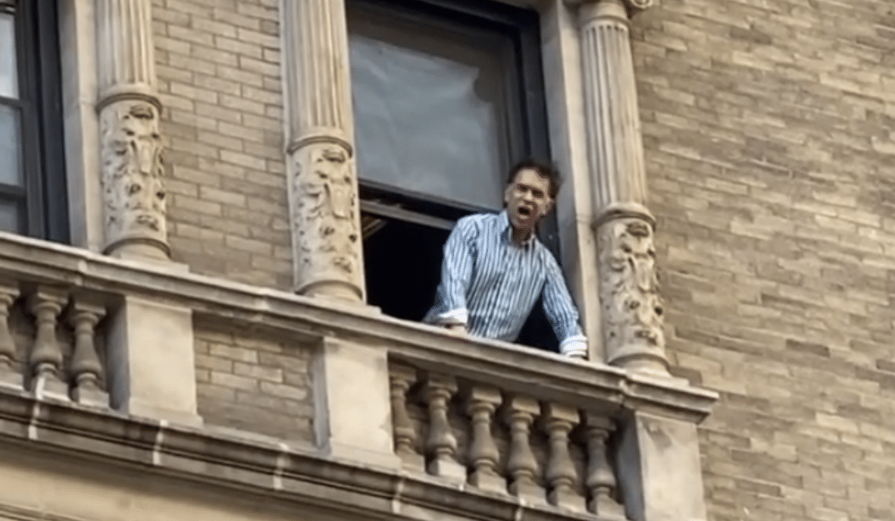 This Broadway Star Has Been Singing From His Apartment Window Every Evening To His Neighbors