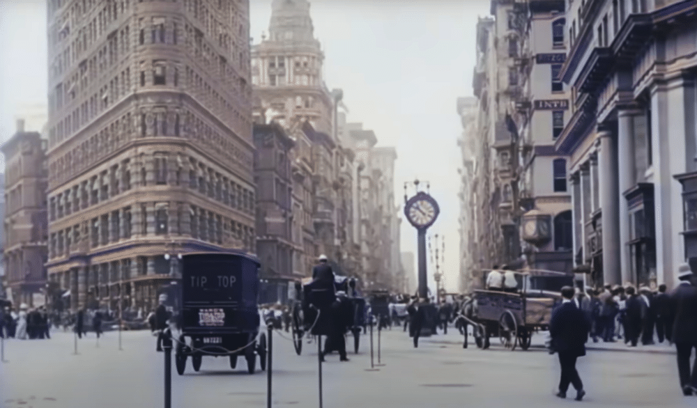 This Film Of A 1911 New York City Was Recently Colorized, And It's Stunning